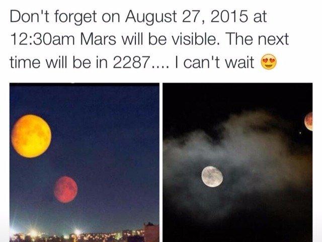 The 27th august Mars Hoax