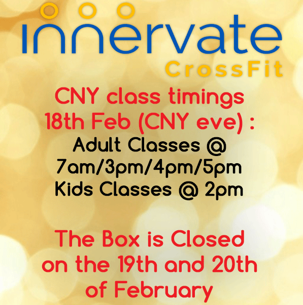 Innervate CrossFit Singapore CNY