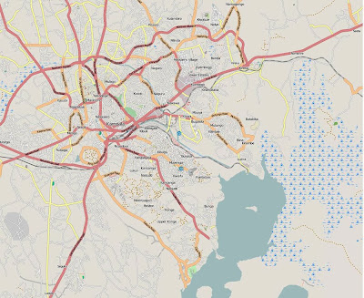 Mapa de Kampala – Uganda