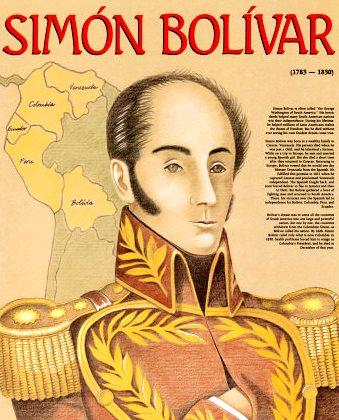 Ilustración de Simón Bolivar