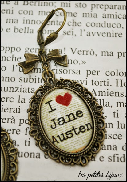 orecchini cammei Jane Austen earrings