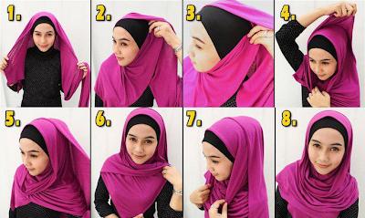 Cara Memakai Jilbab Pashmina Dengan Mudah