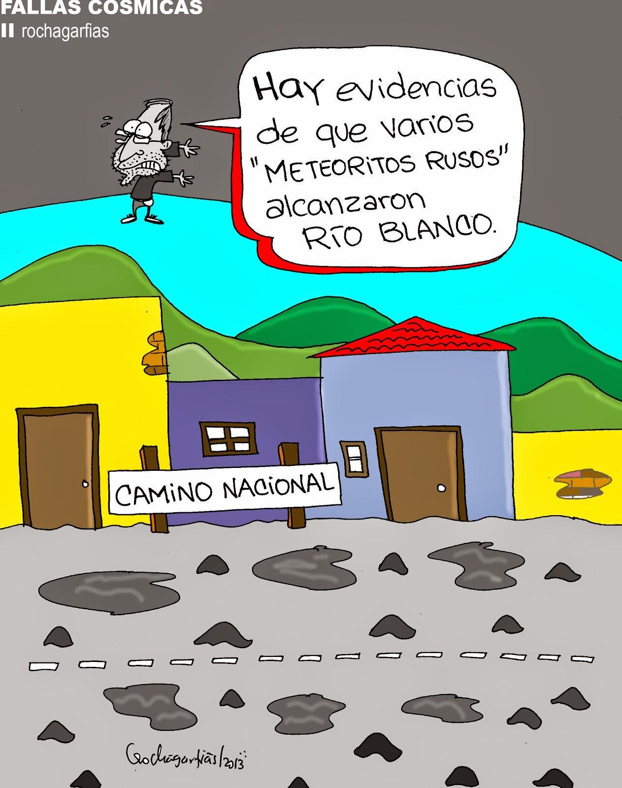 Fallas cósmicas en Río Blanco.