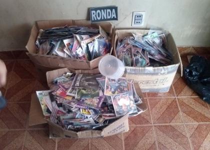 Região do Cariri – CE: Ronda apreende cerca de 10 mil mídias de CDs/DVDs falsificados