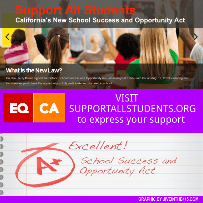 A screenshot of the Equality California website supportallstudents.org