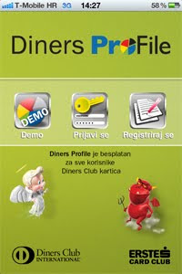 Diners ProFile, aplikacija za iPhone, iPod Touch, iPad