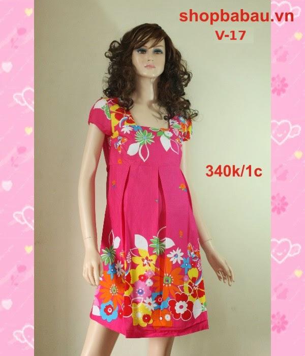 Đầm bầu đẹp V-17