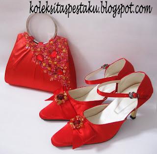 Sepatu Tas Pesta Merah