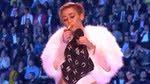 Miley Cyrus smokes marijuana on-stage to accept her EMA