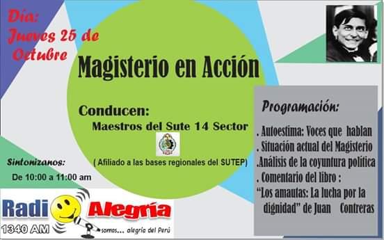 SINTONIZA Y LLAMA A NUESTRO PROGRAMA EN RADIO ALEGRIA