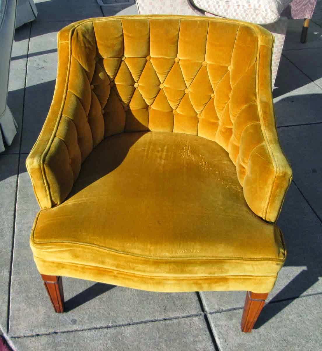 SOLD Vintage Goldenrod Arm Chair   $60
