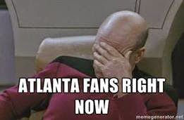 atlanta fans right now - #facepalm #FalconsHaters