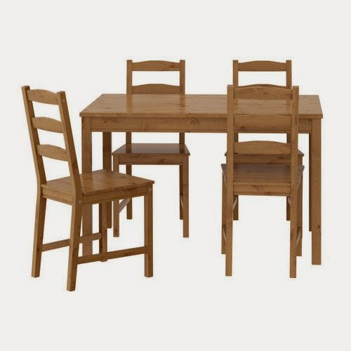 ikea table and 4 chairs set