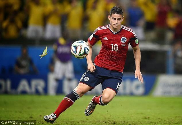игрок команды Колумбии Хамес Родригес