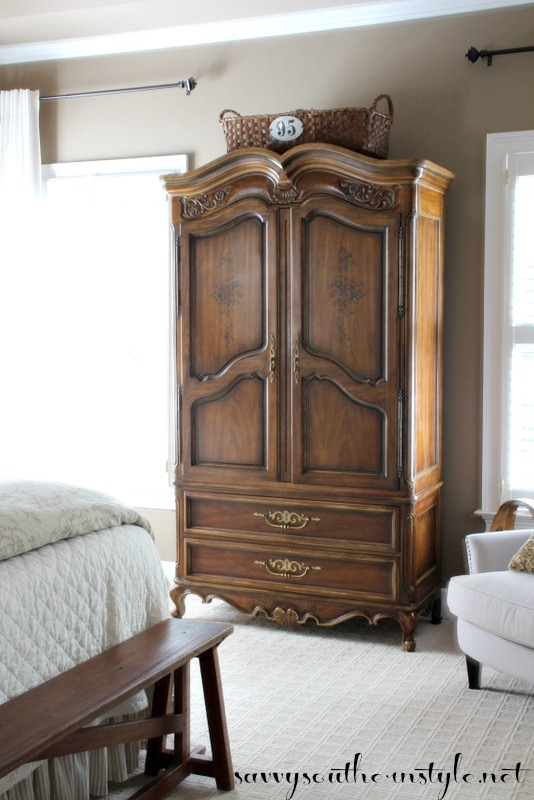 Savvy Southern Style : The Armoire Reveal on shabby chic bedroom ideas, pinterest french country kitchen decor, farmhouse kitchen decorating ideas,