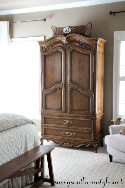 Cute The armoire became the anchor so that meant I could go ahead and paint my dresser In fact the room felt off balance with the armoire and the dresser both