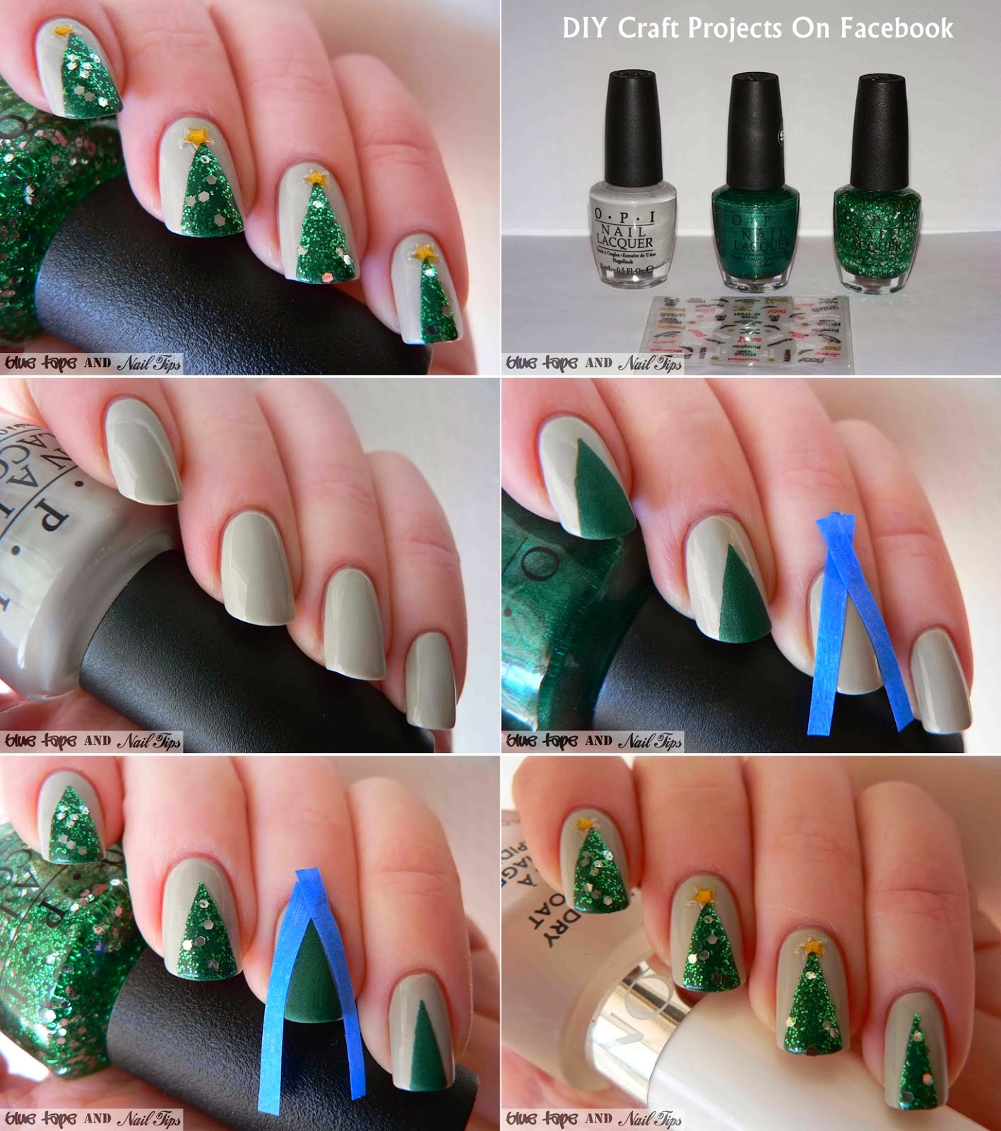 Simply Creative: Fun DIY Christmas Nail Art Tutorials