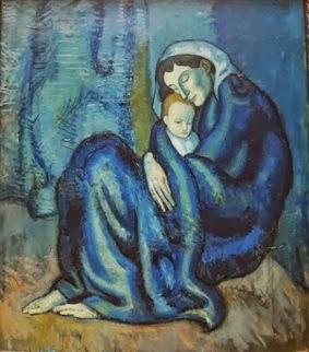 Mãe em azul