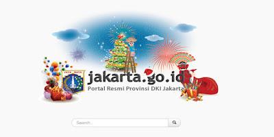 Masih Suasana Idul Fitri, Situs Pemprov DKI Jakarta Justru Tampilkan Atribut Natal