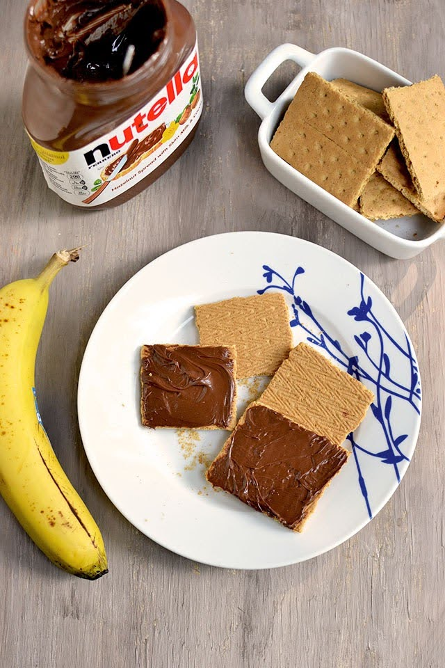 S'mores with Nutella & Banana