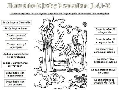 best Dibujos De Jesus Y La Mujer Samaritana Para Colorear image ...