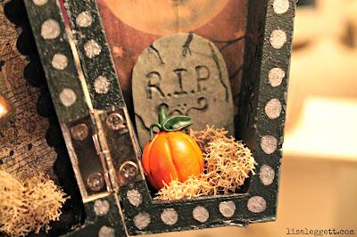 Halloween Moon Curio Coffin by Lisa Leggett