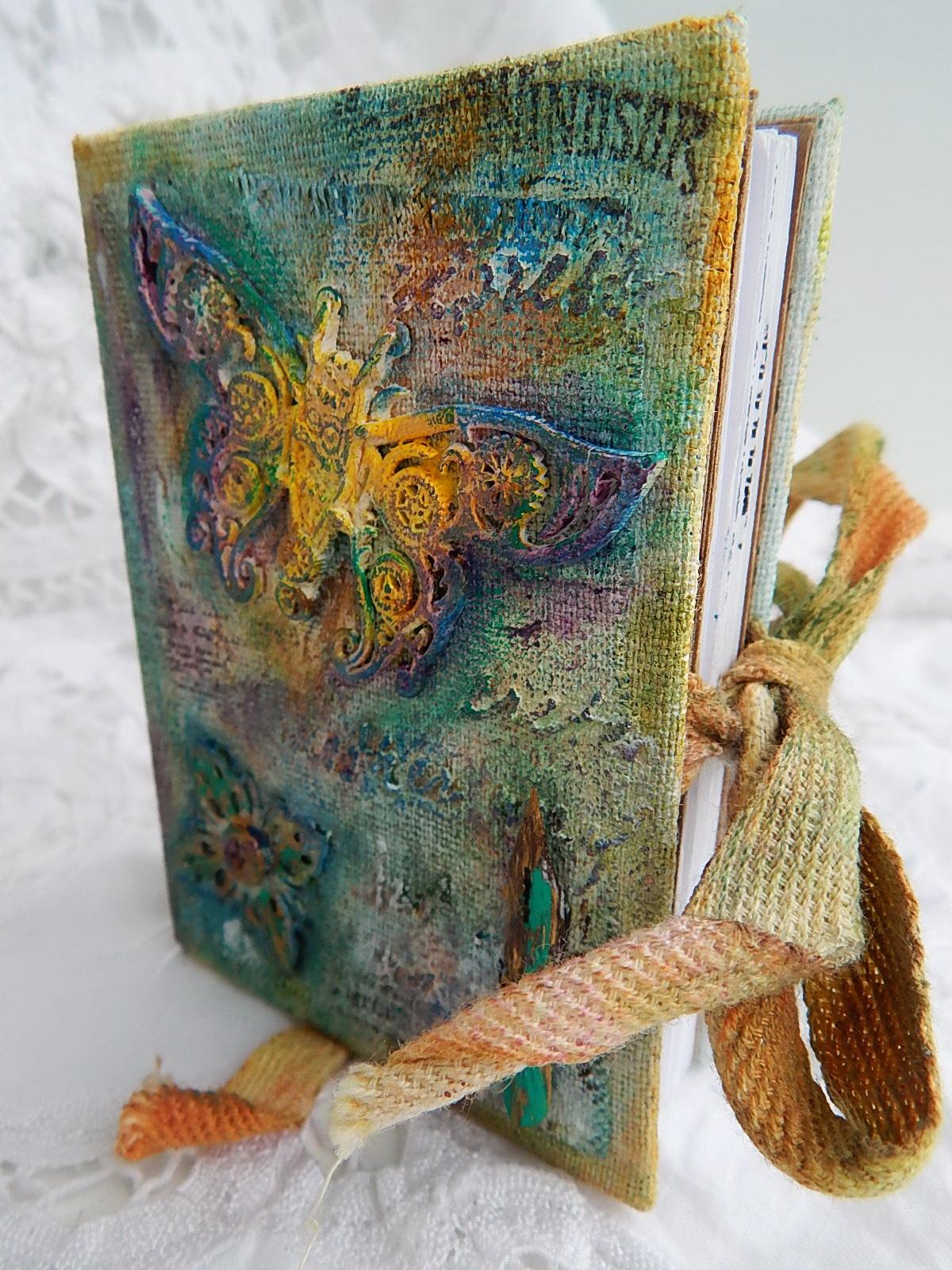Hellen, блокнот, mixed-media, молд - бабочка