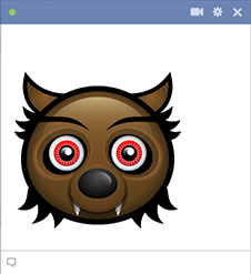 Werewolf Facebook Emoticon