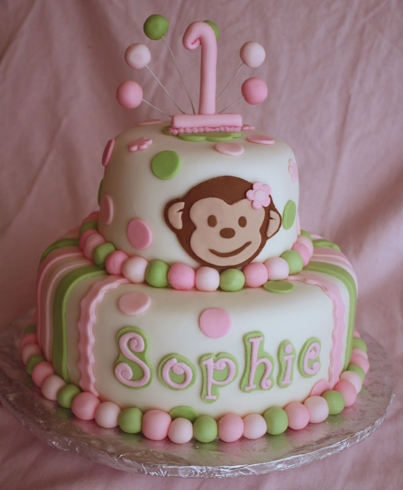Adventures in Savings: A New Pink & Green Mod Monkey Cake!!
