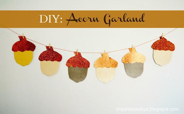 DIY: Acorn Garland