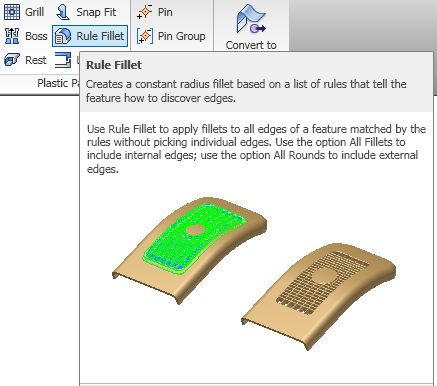 how to make rounded corners in inventor