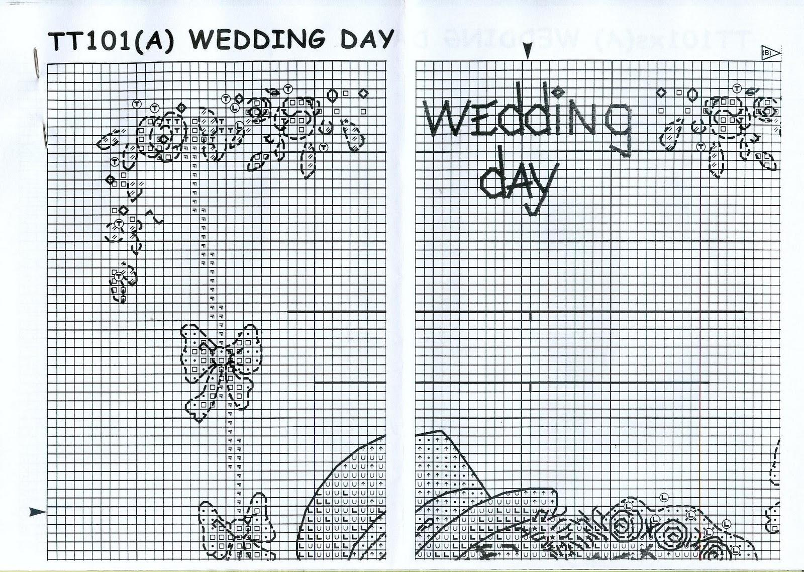 Схемы вышивки крестом мишки тедди свадьба 3