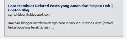 Memunculkan Deskripsi (Alinea Pertama) Posting di Share Facebook