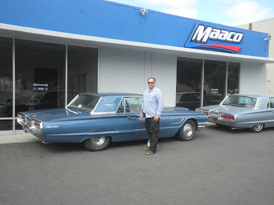 Proud owner of 1965 Thunderbird restored at Almost Everything Autobody