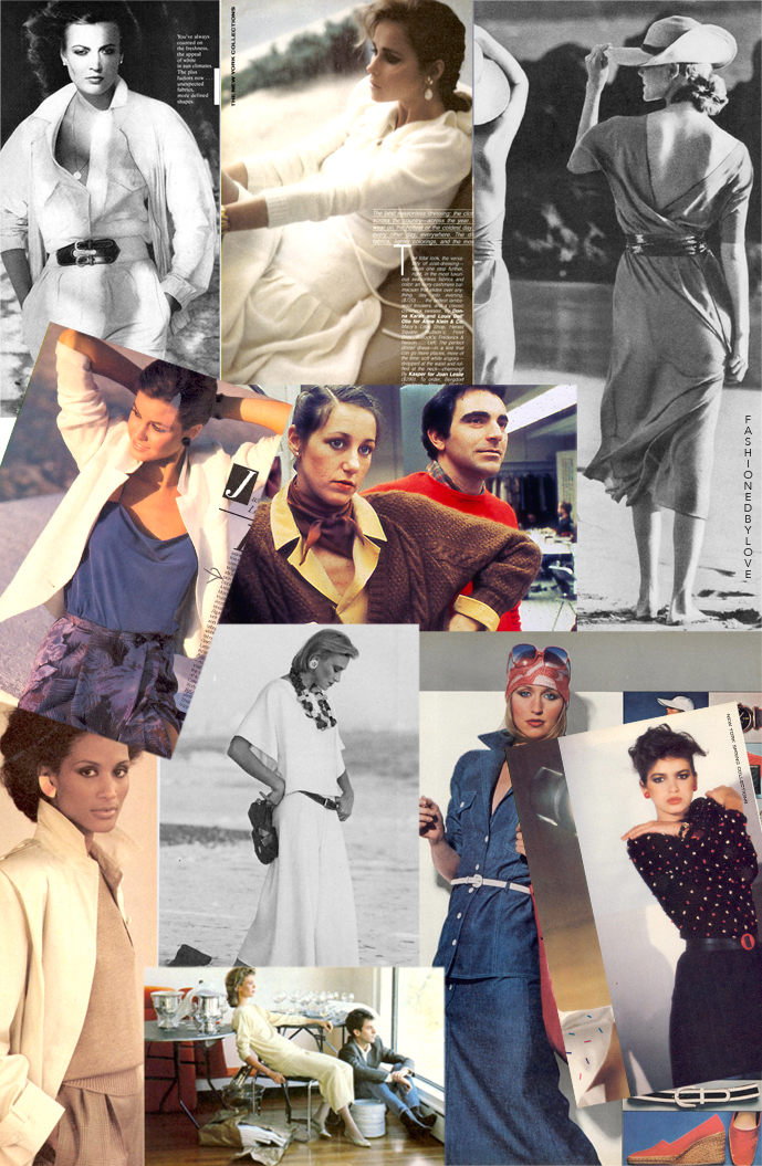 Donna Karan & Louis Dell'Olio designs for Anne Klein in editorials and campaigns, 1974-1984