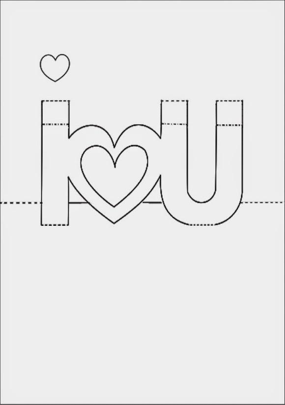Hướng dẫn làm thiệp 3D - I love you