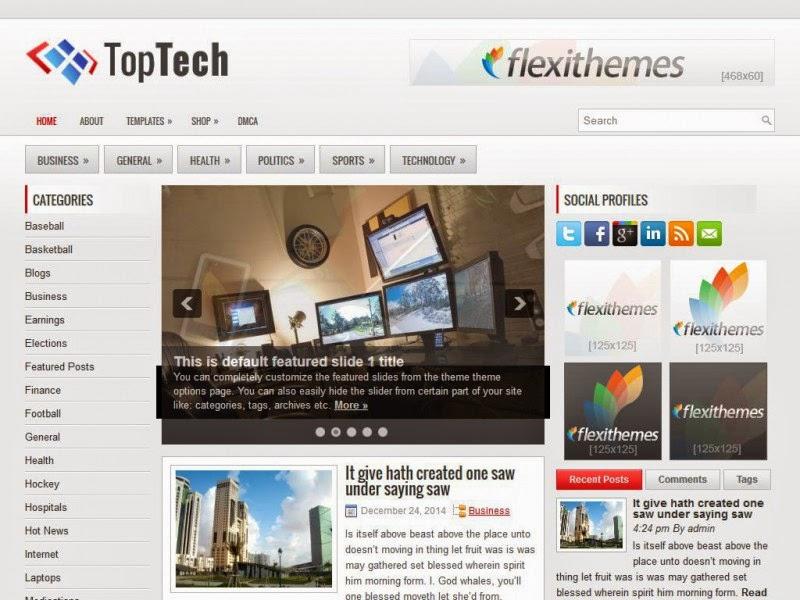TopTech - Free Wordpress Theme