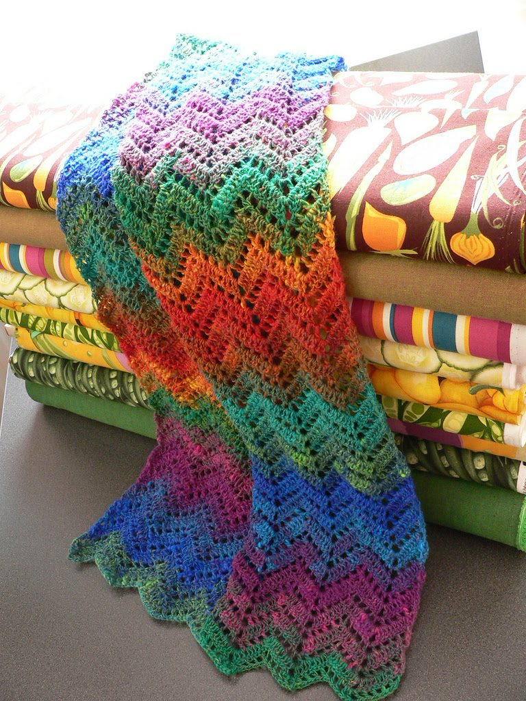 Three Color Scarf Knitting Pattern : Crochet Blankets, Crochet Ideas, Color Inspiration, Crochet Afghans, Afghans ...