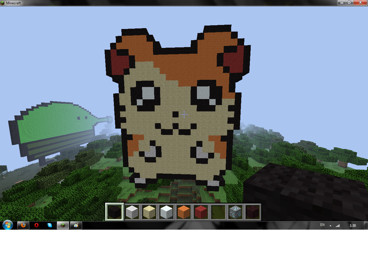 j e the blog cute hamster in minecraft
