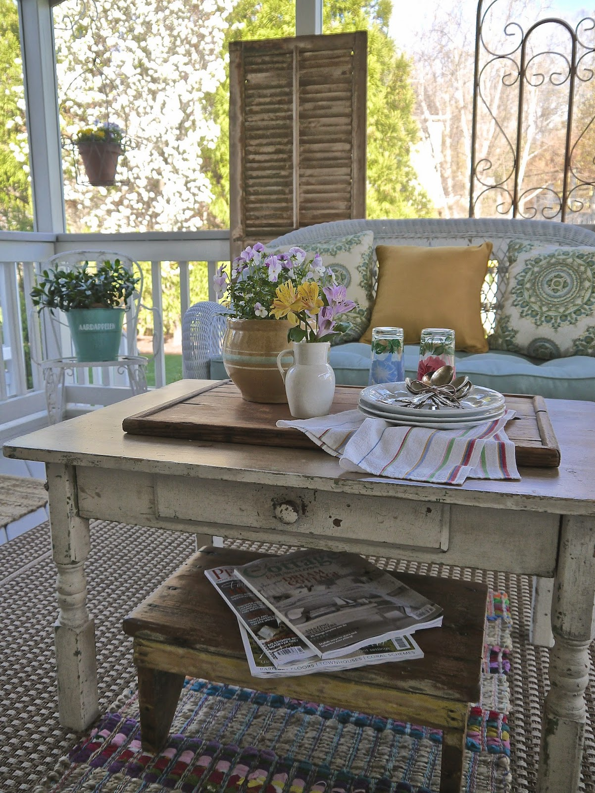 Spring porch by Chateau Chic at Treasure Hunt Thursday From My Front Porch To Yours.