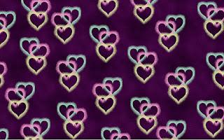 Hintergrundmuster mit Herzen 3
