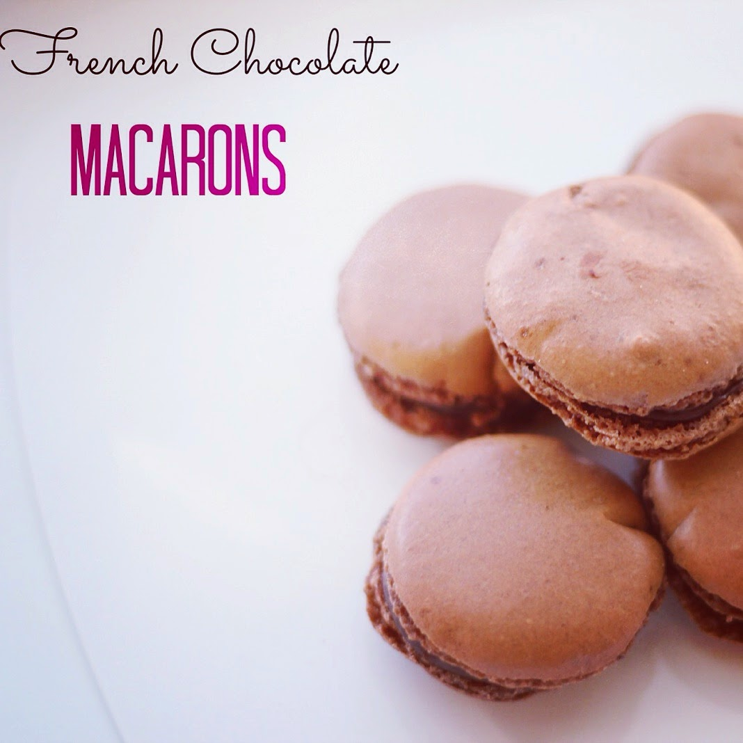 chocolate macarons with ganache www.footnotesandfinds.com