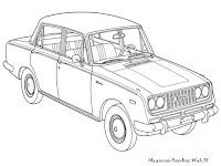 Mewarnai Gambar Mobil Antik