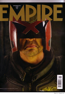 Cover of Empire Magazine featuring Karl Urban as Dredd