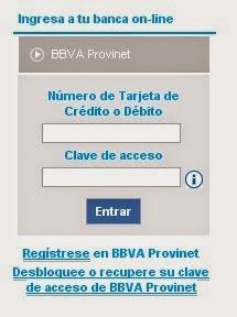 Ingresa a Provinet, TDC, Tarjeta de Credito, TDB, Tarjeta de Debito, Clave de Acceso,