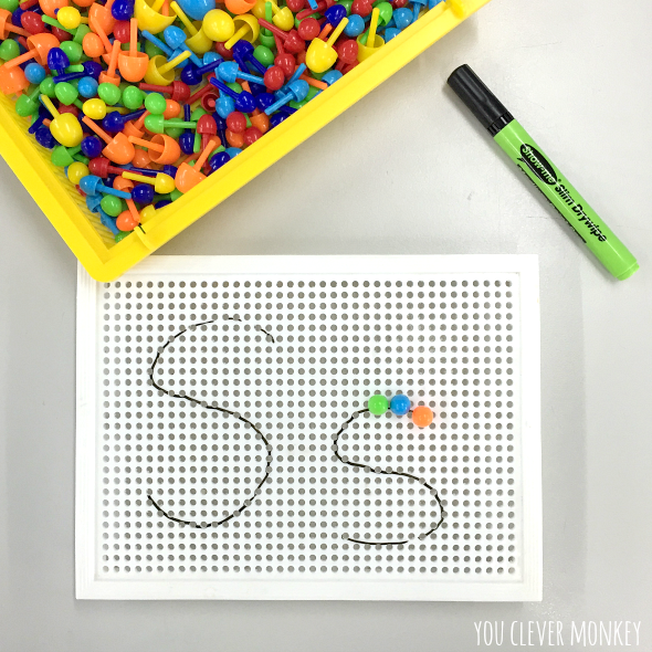 Inspiring literacy centre ideas you clever monkey for Large pegboard letters