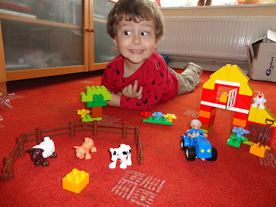 Big Boy with the Duplo First Farm Set