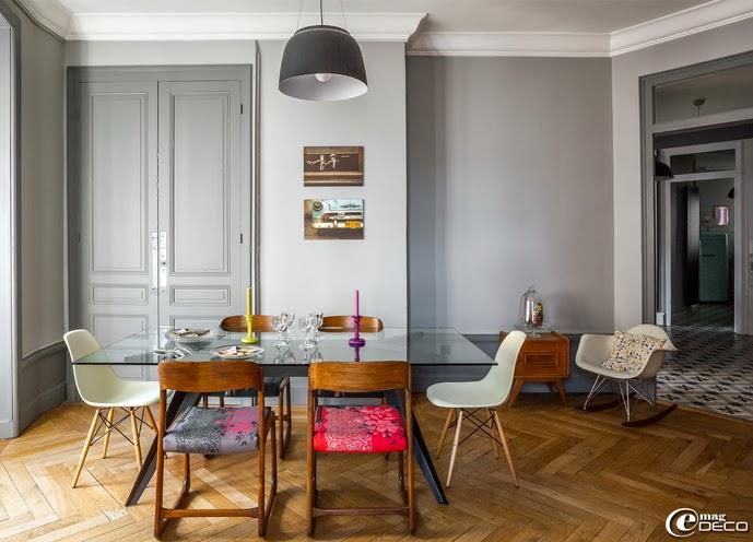 Smeg Kühlschrank Hellgrau : Die wohngalerie: feines farbspiel vor grau in lyoneser wohnung