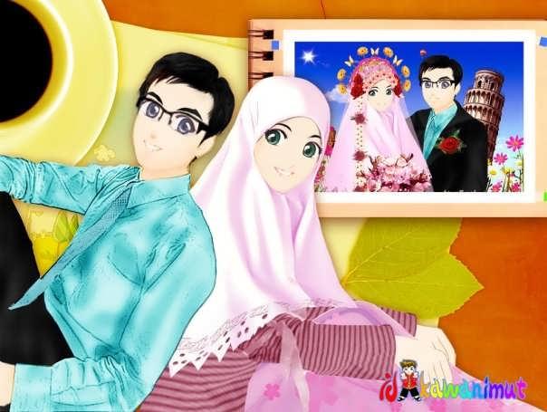Kartun Gambar Muslimah Yang Cantik