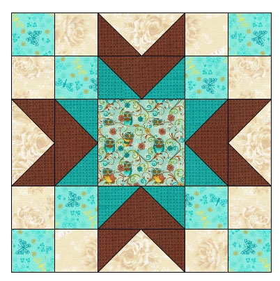 Center block of quilt Freemotion by the River